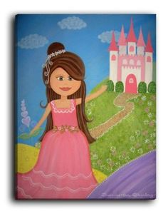 Amazon.com: Dianoche Designs Canvas Art FREE SHIPPING - My Sweet Princess: Baby