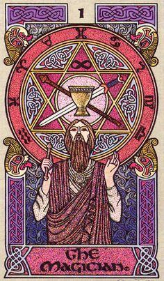 I. The Magician - Celtic Tarot by Courtney Davis & Helena Paterson