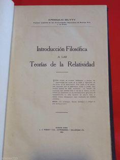 1924 INTRODUCCION TEORIA  RELATIVIDAD RELATIVITY THEORY PHYSICS - 1st XRARE