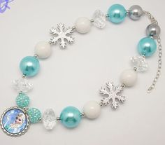 Ice Queen Elsa inspired Chunky necklace by BabyBloomzBoutique, $12.95
