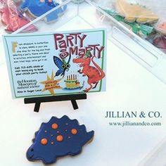 Thingswelove Adorable Dino Cookies Spotted At One Of Our Party Smarty Birthdays Events