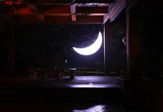 Private Moon installtion on an exhibition Light Up 2011  in National Cheng-Chi University's campus in Pavilion on the Maple Path