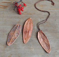 Real sage leaf pendant, electroformed Botanical Jewelry, Copper Dipped, Woodland Jewelry, Ooak Pendant, natural leaf, electroform, Vegan