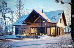 Wooden homes always warm the soul, showing us just how cozy and comfortable savvy architecture can be. Home Fashion, Save Energy, Exterior, Cabin, Architecture, House Styles, Wall, Home Decor, Green Homes