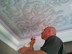 Arabesque, Stencil Painting, Caligraphy, Wedding Locations, Stencils, Tiles, Crown Molding, Wall Art, Wallpaper