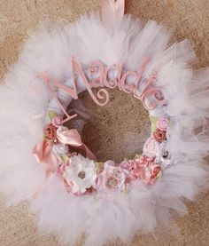 The Maddie Wreath Hospital Baby Announcement by pickypickypeacock, $87.00