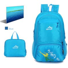 Waterproof Nylon Light Weight Folded Backpack Fashion Package Bag Light Slim Backpack Women Men Bags Sac Main Cartera