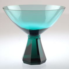 Vintage Friedrich Kristall Likörschale Farbglas Glas petrol grün Likörglas U2O