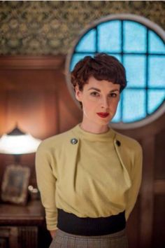 Vintage clothes. ....Jessica Raine - from Partners in Crime TV show.