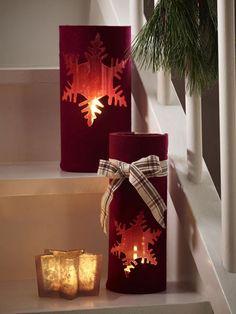 Festliche Kerzendeko für die Weihnachtszeit