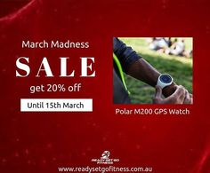 "19b6cfdb78a5 Ready Set Go Fitness on Instagram  ""Track your speed and distance with the  Polar M200 GPS Watch. MARCH MADNESS SALE!"