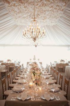 brides of adelaide magazine - neutral wedding - beige wedding - elegant - sophisticated - table setting - marquee - chandelier Marquee Wedding, Wedding Reception Decorations, Wedding Bells, Wedding Table, Our Wedding, Dream Wedding, Wedding Dinner, Reception Design, Tent Wedding