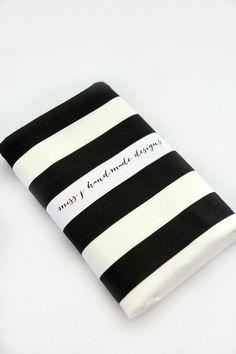 black & white stripe blanket