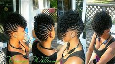I Love this braided and curly mohawk hairstyle