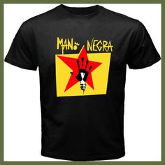 New Mano Negra Manu Chao Rock Band Men's Black T-Shirt Size S M L XL 2XL High Quality Top Tee T Shirt