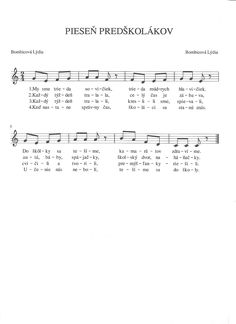 Sheet Music, Math Equations, Education, Kids, Toddlers, Boys, Music Score, For Kids, Children