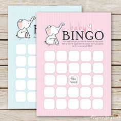 Through a Fun Baby Shower With These Free, Printable Bingo Cards: Baby Shower Bingo Cards from Aspen Jay
