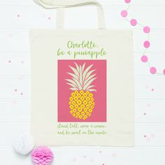 pineapple quote bag from £7.90 - new photo update @notonthehighst