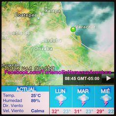 Buen inicio de #semana para todos nos pinta bien el #clima en #Vercruz para hoy y #megusta http://www.facebook.com/TurismoEnVeracruzAventura #Mexico