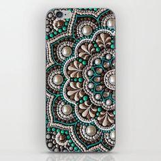 Mint mandala iPhone Skin by Elena Morgun - iPhone 8 Iphone Skins, Iphone 8, Mandala Art Lesson, Dot Art Painting, Egg Crafts, Dot Dot, Bottle Art, Mandala Design, Stone Art