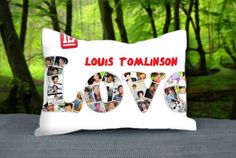 "Love One Direction Louis Tomlinson Collage Custom Pillow Case 30"" x 20"""