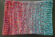 Dither by General Hogbuffer, knitted by mostlybadfly   malabrigo Mecha in Archangel and Green Gray
