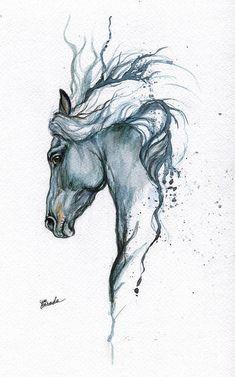 Horse Drawings, Art Drawings Sketches, Animal Drawings, Pencil Drawings, Horse Pencil Drawing, Tattoo Sketches, Painted Horses, Horse Tattoo Design, Tattoo Horse