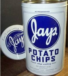 You can't eat just one....Jays Potato Chips, manufactured in Chicago
