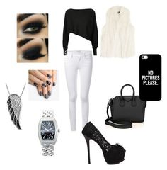 """""""Untitled #4"""" by nisa-hadzic ❤ liked on Polyvore featuring Crea Concept, Frame Denim, Givenchy, Casetify, DKNY, alfa.K, Jewel Exclusive and Franck Muller"""