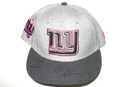 outlet store 763f4 a0a52 Orleans Darkwa Sideline Worn   Signed New York Giants Breast Cancer  Awareness New Era 59Fifty Cap