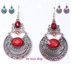 Neu im Sortiment:  große opulente Ohrhänger im Vintage Style  erhältlich in rot, violett und türkis VK 5,95€ http://ebay.eu/1rm1Km8 oder bei DaWanda :http://bit.ly/1qRTmLG