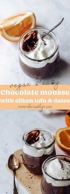 Silken tofu Chocolate Mousse with dates | vegan - Klara`s Life