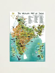 """""""The Wildlife Map of India"""" Photographic Print by rohanchak 