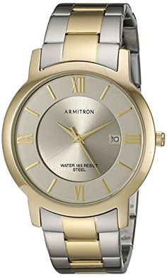 a0da57ce6a2 Men s Wrist Watches - Armitron Mens 204986GYTT Date Function Dial TwoTone  Bracelet Watch