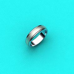14K white gold Mens wedding band by Masterjeweler on Etsy, $475.00