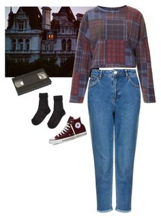 """castle"" by junk-food ❤ liked on Polyvore featuring Topshop and Converse"