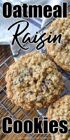 Homemade Oatmeal Cookies, Best Oatmeal Raisin Cookies, Oatmeal Cookie Recipes, Easy Cookie Recipes, Oatmeal Cinnamon Cookies, Dessert Recipes, Pastry Recipes, Dessert Ideas, Sweet Recipes