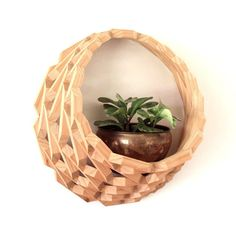 Large Hanging Wood Planter/ Wooden Wall by DragonflyGypsySoul