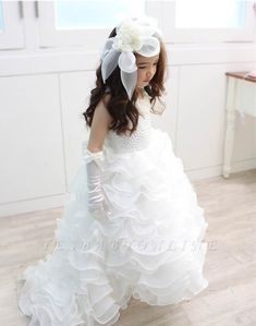 Cheap communion dresses, Buy Quality first communion dresses directly from China flower girl dresses Suppliers: Ball Gown First Communion Dresses Bow Floor Length Organza White Ivory Flower Girl Dresses For Weddings Pearls vestidos baratos Girls Dresses Online, Girls Pageant Dresses, Prom Dresses, Dresses 2016, Dress Online, Long Dresses, Bridesmaid Dresses, Cute Flower Girl Dresses, Tulle Flower Girl