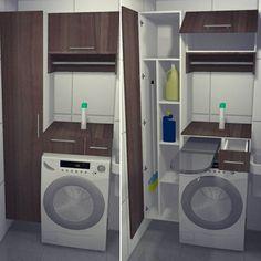 Precisando de praticidade? De uma olhadinha no que fizemos para nossa cliente @meu.ap04 Tábua de passar roupas embutida e armário com espaço de vassouras, para lavanderia de apartamento.  Módulo LEGNA, acabamento Ciliegio Grigio.  mobfams.com.br  #mobfams #planejados #moveis #cozinha #dormitorio #lavanderia #decoracao #projeto #decoration #decor #homedecor #instadecor #miniape #miniapto #ap #reforma #architecture #arquitetura #design #casa #apto #inspirebarueri #inspireflores #inspireaguas…