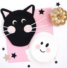 decoration halloween avec assiette