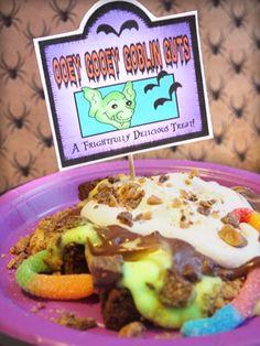 """Halloween Food Idea """"Ooey Gooey Goblin Guts"""""""