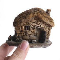 Miniature Fairy Gardens, Miniature Dolls, Twig Crafts, Fairy Garden Supplies, Gnome House, Fairy Garden Houses, Building For Kids, Fairy Doors, Happy Spring