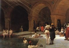 Jean Leon, Turkish Bath, Oil Painting Reproductions, Moorish, Michelangelo, Renoir, Erotic Art, Oeuvre D'art, A4 Poster