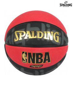 Spalding NBA Highlight Red Outdoor Basketball