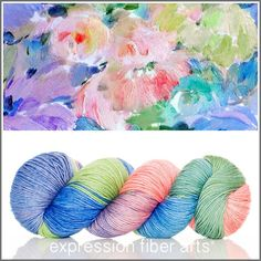 Beautiful Vintage Wallpaper - resilient sock yarn by Expression Fiber Arts