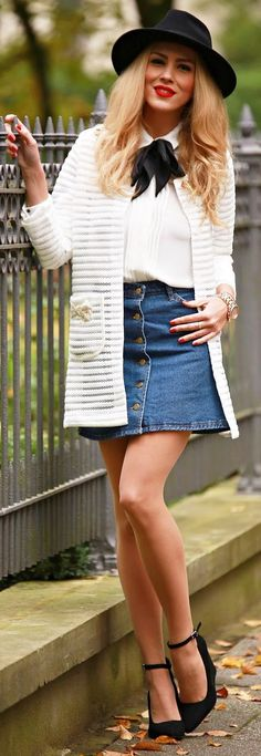 White Light Coat Fall Streetstyle women fashion outfit clothing stylish apparel @roressclothes closet ideas