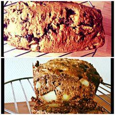 Gezond appel- chocoladebrood. #suikervrij #speltmeel #fruit / Healthy apple- chocolatebreas #spelt #sugarfree #diet #fruit. Find the recipe here (in dutch): http://www.beginspiration.nl/bananen-walnoot-chocolade-brood/