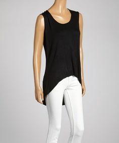 Another great find on #zulily! Black Sleeveless Hi-Low Top #zulilyfinds