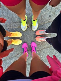 Group workouts and colorful Nikes #GetActive